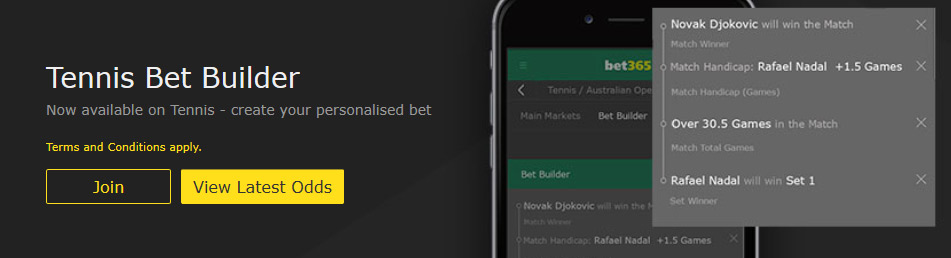 Tennis Bet Builder at bet365